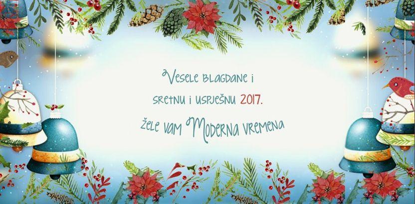čestitke za sretnu novu godinu Moderna vremena :: Želimo vam lijep i miran Božić i uspješnu i  čestitke za sretnu novu godinu